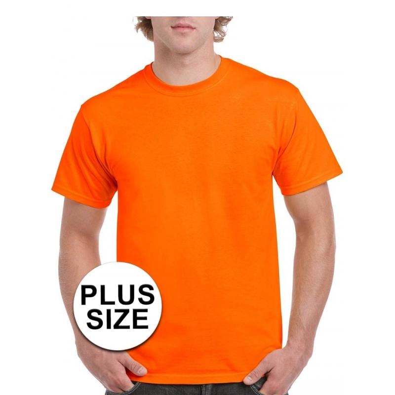 Maten Kleding.Grote Maten Fel Oranje Shirt Voor Volwassenen Zeer Voordelige