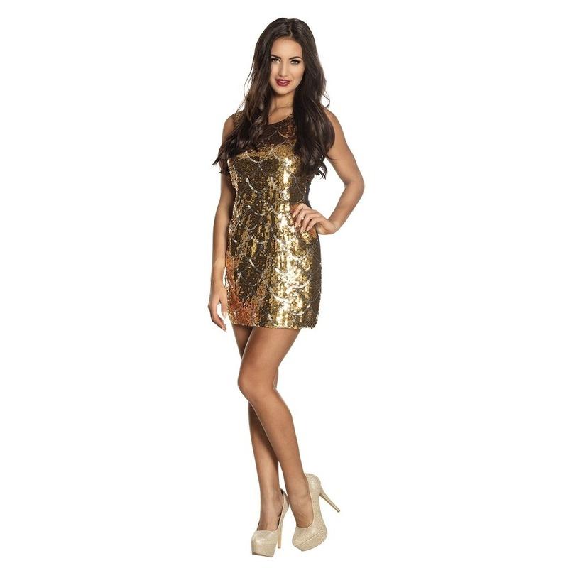 25a10144149e74 Gouden glitter jurkjes voor dames